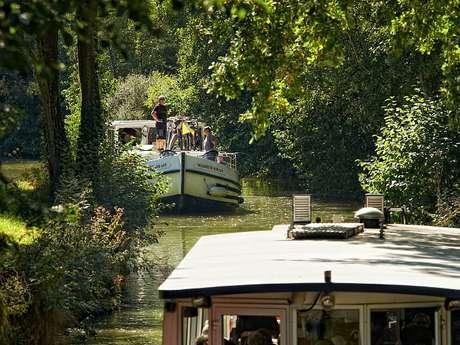 croisière sur la baïse-bateau-peniche-Gers