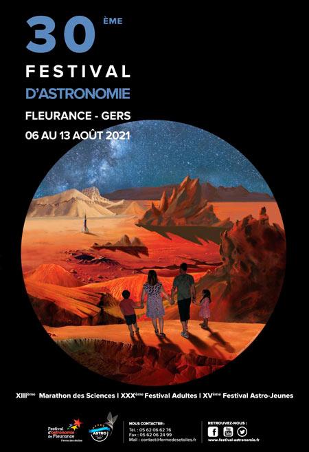 Festival astronomie affiche 2021