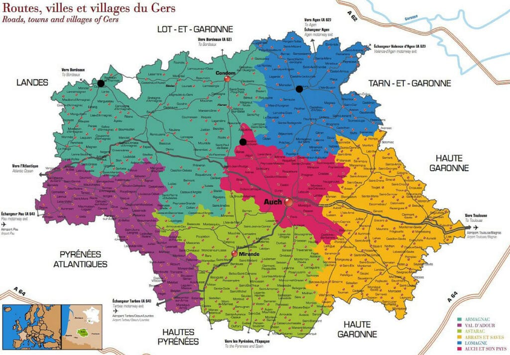 carte-gers-villes-thermales